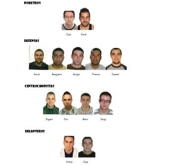 Jugadores del equipo
